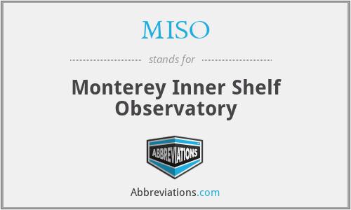 MISO - Monterey Inner Shelf Observatory