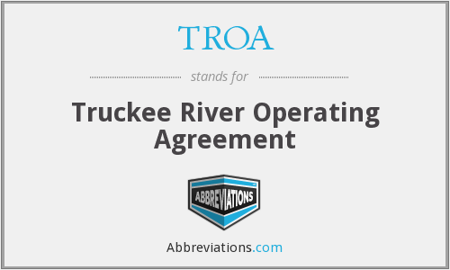 TROA - Truckee River Operating Agreement