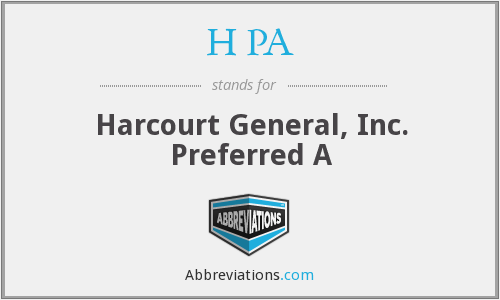 H PA - Harcourt General, Inc. Preferred A