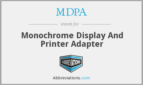MDPA - Monochrome Display And Printer Adapter