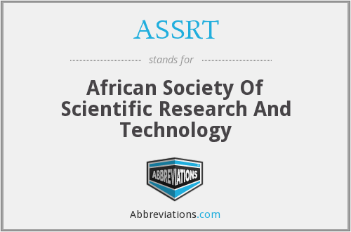 ASSRT - African Society Of Scientific Research And Technology