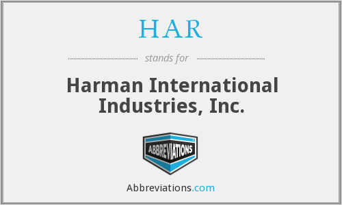 HAR - Harman International Industries, Inc.