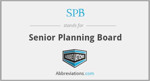 SPB - Senior Planning Board