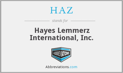 HAZ - Hayes Lemmerz International, Inc.
