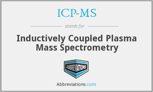 ICP-MS - Inductively Coupled Plasma Mass Spectrometry