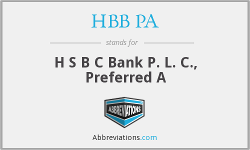 What does HBB PA stand for?