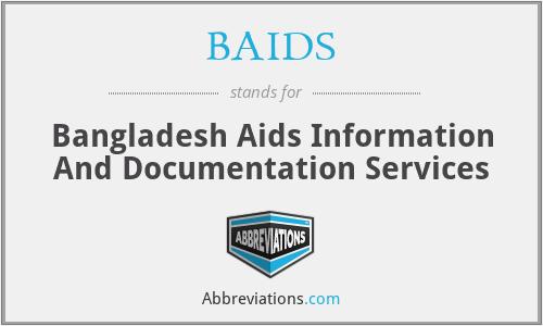 BAIDS - Bangladesh Aids Information And Documentation Services