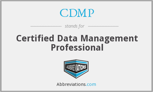 CDMP - Certified Data Management Professional