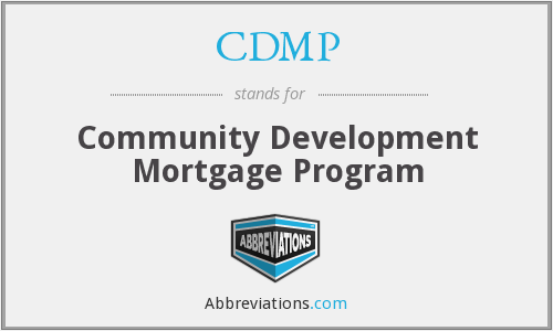 CDMP - Community Development Mortgage Program