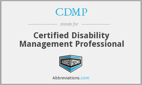 CDMP - Certified Disability Management Professional