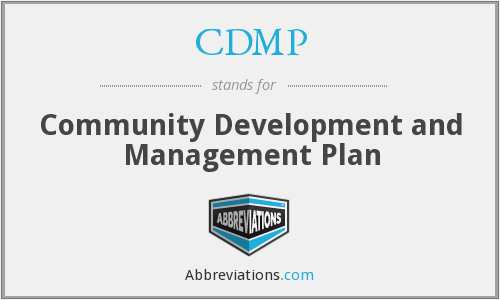 CDMP - Community Development and Management Plan