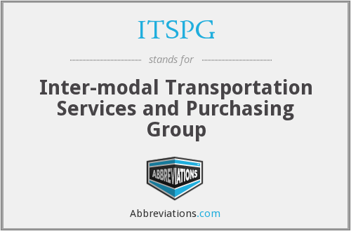 ITSPG - Inter-modal Transportation Services and Purchasing Group