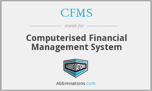 CFMS - Computerised Financial Management System