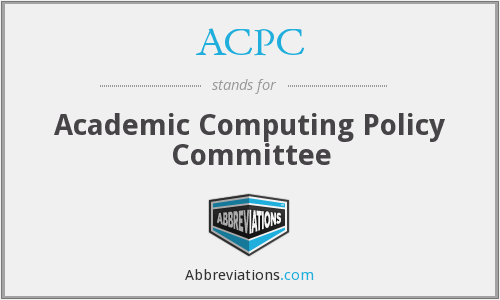 ACPC - Academic Computing Policy Committee