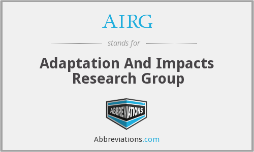 AIRG - Adaptation And Impacts Research Group