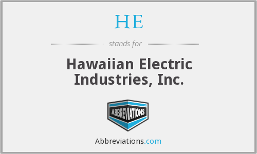 HE - Hawaiian Electric Industries, Inc.