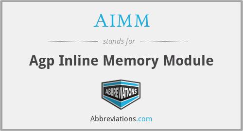 AIMM - Agp Inline Memory Module