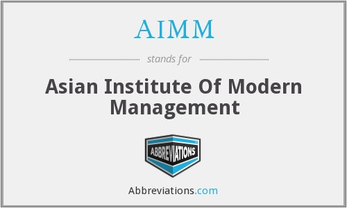 AIMM - Asian Institute Of Modern Management