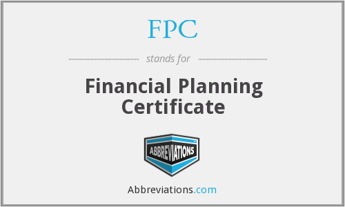 FPC - Financial Planning Certificate