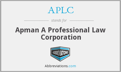 APLC - Apman A Professional Law Corporation
