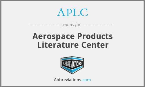 APLC - Aerospace Products Literature Center
