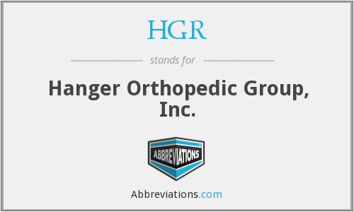 hanger orthopedic group What is the abbreviation for Hanger Orthopedic Group, Inc.?
