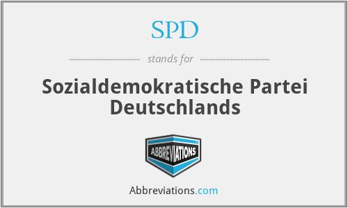 SPD - Sozialdemokratische Partei Deutschlands