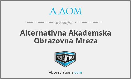 AAOM - Alternativna Akademska Obrazovna Mreza