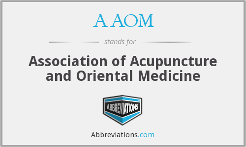 AAOM - Association of Acupuncture and Oriental Medicine