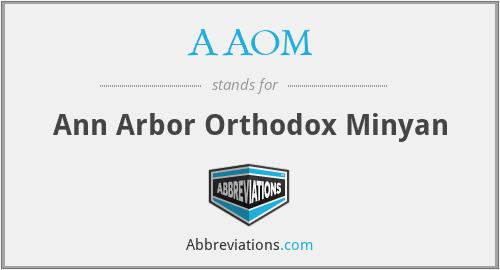 AAOM - Ann Arbor Orthodox Minyan