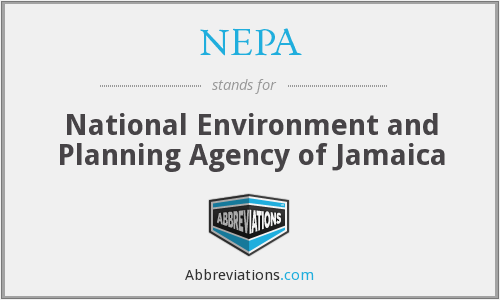 NEPA - National Environment and Planning Agency of Jamaica