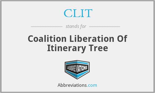 CLIT - Coalition Liberation Of Itinerary Tree