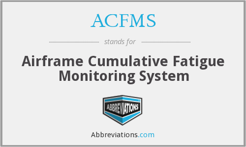 ACFMS - Airframe Cumulative Fatigue Monitoring System