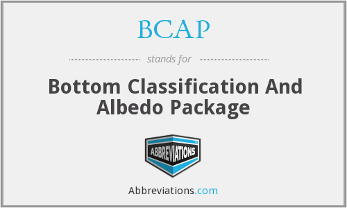 BCAP - Bottom Classification And Albedo Package