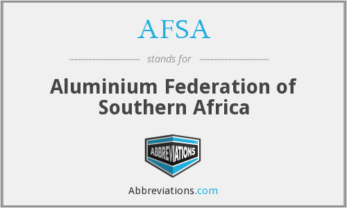 AFSA - Aluminium Federation of Southern Africa