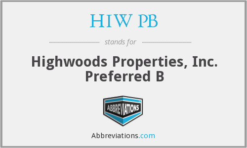 HIW PB - Highwoods Properties, Inc. Preferred B