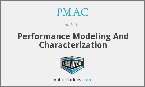 PMAC - Performance Modeling And Characterization