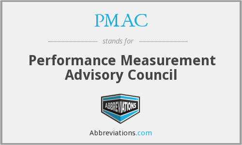 PMAC - Performance Measurement Advisory Council