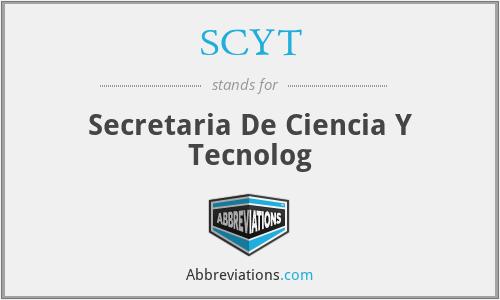 SCYT - Secretaria De Ciencia Y Tecnolog