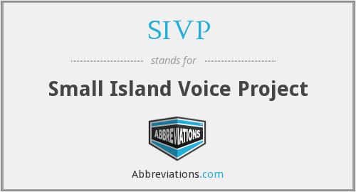 SIVP - Small Island Voice Project