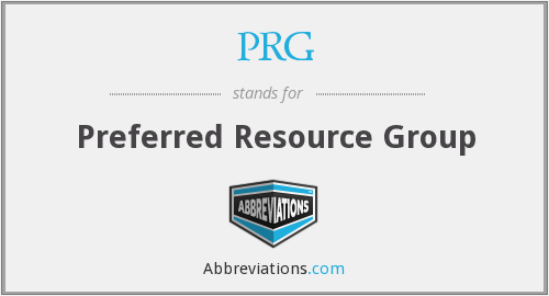 PRG - Preferred Resource Group
