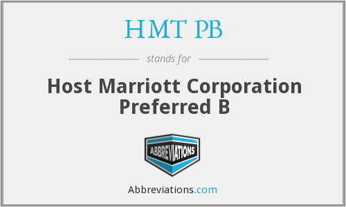 What does HMT PB stand for?