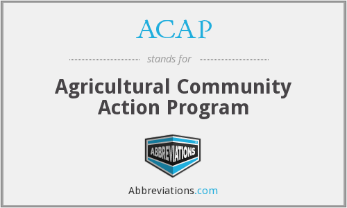 ACAP - Agricultural Community Action Program