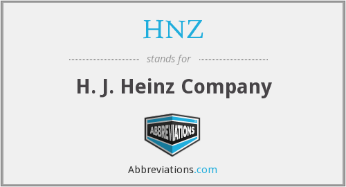 What does HNZ stand for?