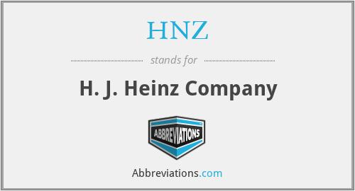 HNZ - H. J. Heinz Company