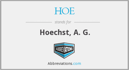 What does HOE stand for?