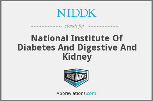NIDDK - National Institute Of Diabetes And Digestive And Kidney