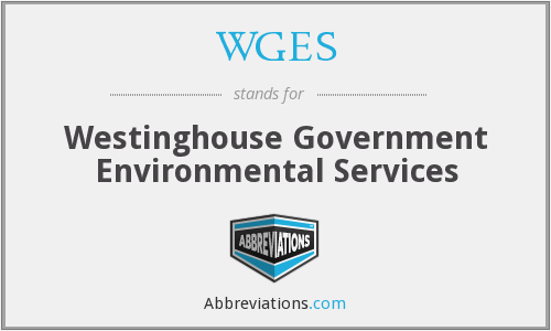 WGES - Westinghouse Government Environmental Services