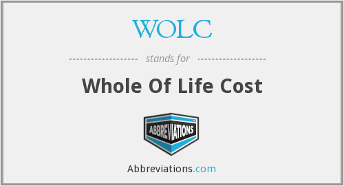WOLC - Whole Of Life Cost