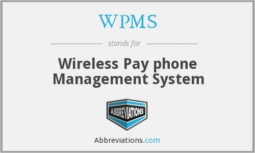 WPMS - Wireless Pay phone Management System